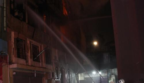 Adana'da ahşap binada yangın çıktı