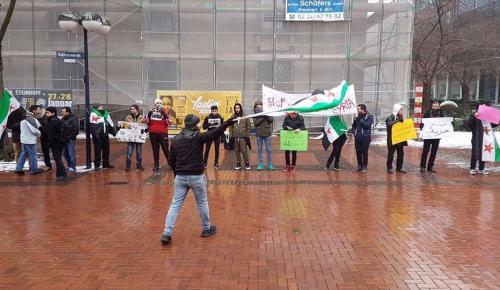 """Almanya'da """"Suriye'ye Özgürlük"""" mitingi"""