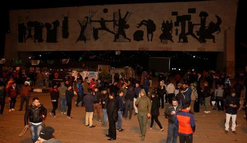 """Bağdat'ta gece yarısı """"şiddet"""" protestosu"""