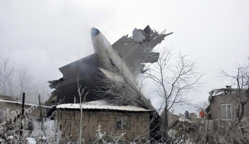 Bişkek'te Kargo uçağı düştü: 32 ölü, 4 yaralı