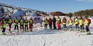 Dağ kayakçılar Ergan Dağı'nda hazırlanıyor