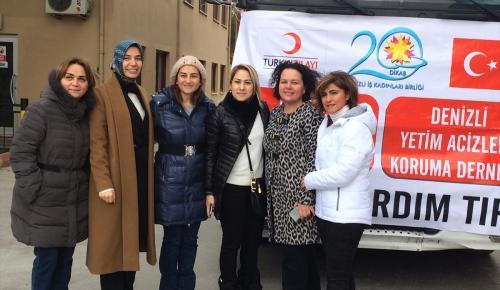 Denizlili iş kadınlarından Halep'e yardım