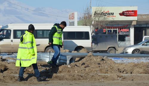Doğubayazıt'ta zırhlı polis aracı devrildi