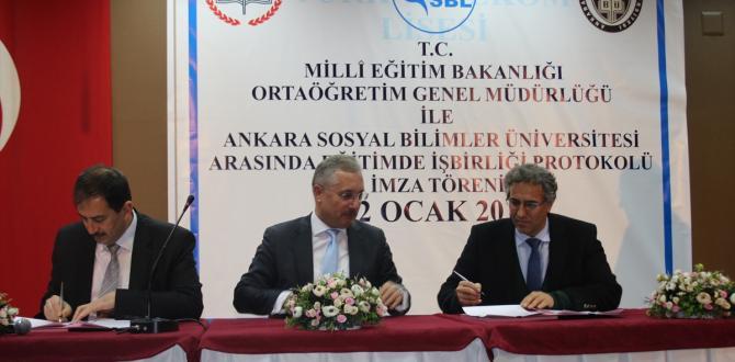 """""""Eğitimde İşbirliği Protokolü"""" imzalandı"""