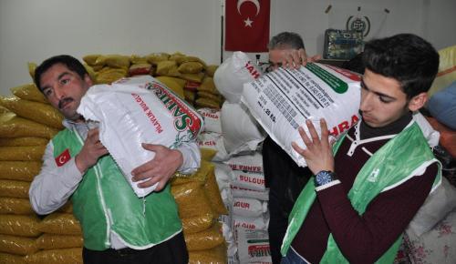 Gaziantep'ten Haleplilere yardım