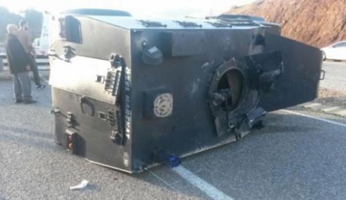 Ağrı'da zırhlı araç devrildi! 7 polis yarlandı