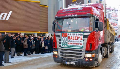 Kırşehir'den Haleplilere 4 tır gıda yardımı