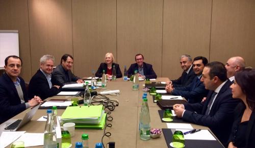 KKTC Cumhurbaşkanı Akıncı, Guterres ile Kıbrıs müzakerelerini görüştü