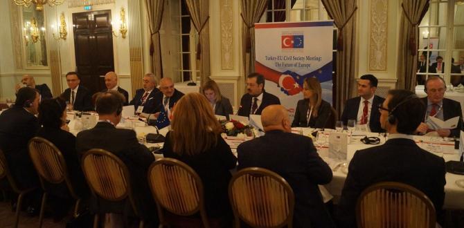 """Londra'da """"Türkiye-AB Sivil Toplum Buluşmaları"""""""