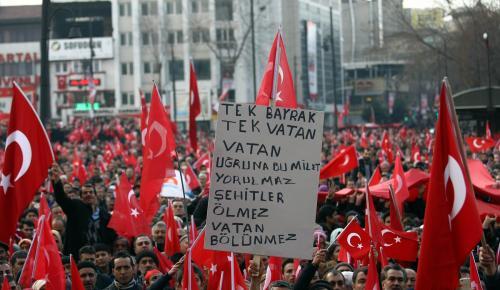 """Malatya'da """"Teröre karşı el ele mitingi"""""""