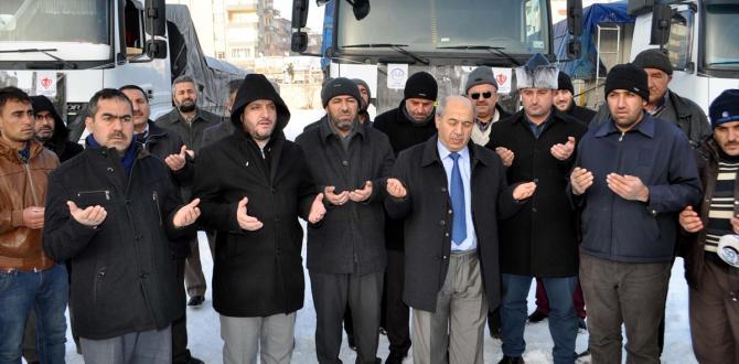 Niğde'den Haleplilere yardım