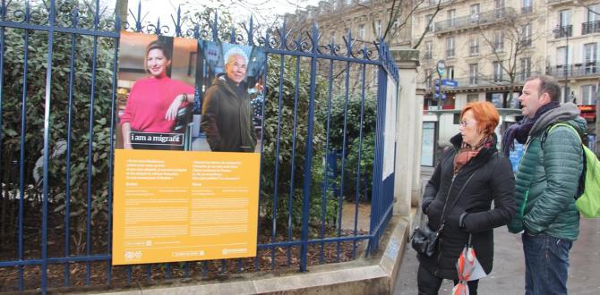 """Paris'te """"Ben bir göçmenim"""" fotoğraf sergisi"""