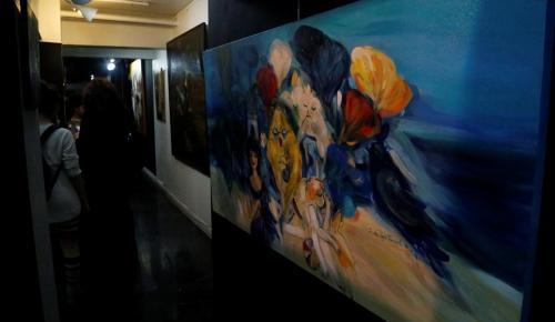 """""""Şairin Rüyaları"""" resim sergisi açıldı"""