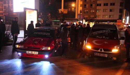 Samsun'da terör protestosu