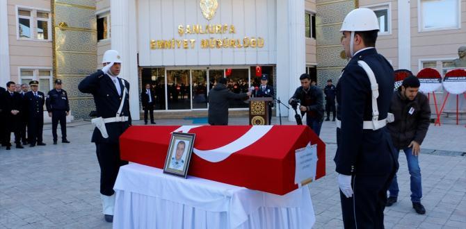 Şanlıurfa'daki trafik kazasında hayatını kaybeden polis memuru için tören düzenlendi