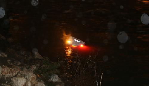 Seyhan Nehri'ne otomobil düştü