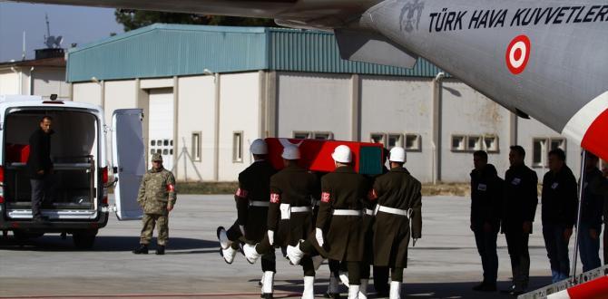 Şehit Teğmen Yazgan'ın naaşı memleketi Gaziantep'e getirildi