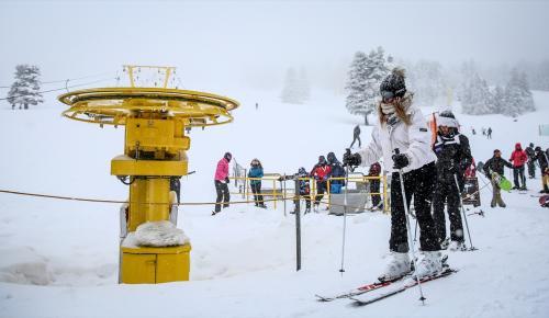 Uludağ'da kar kalınlığı 2 metre