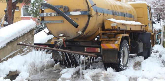 """Yalova'da buzlanmaya karşı """"deniz suyu"""" formülü"""