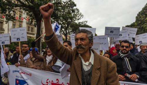 Tunus'ta devrimin 6'ncı yıl dönümü